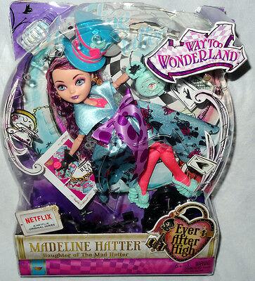 Ever After High Way Too Wonderland Madeline Hatter Doll MIB Toy Figure #CJF39