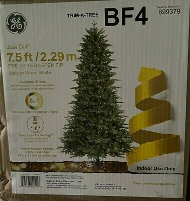 GE 7.5-ft Aspen Fir Christmas Tree 750 Multi Function Color Changing LED Lights
