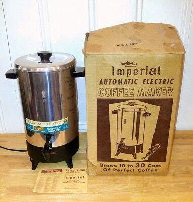 Coffee Urn Percolator - Vintage Regal Ware 7036 Automatic 10-30 Cup Coffee Pot Percolator Urn