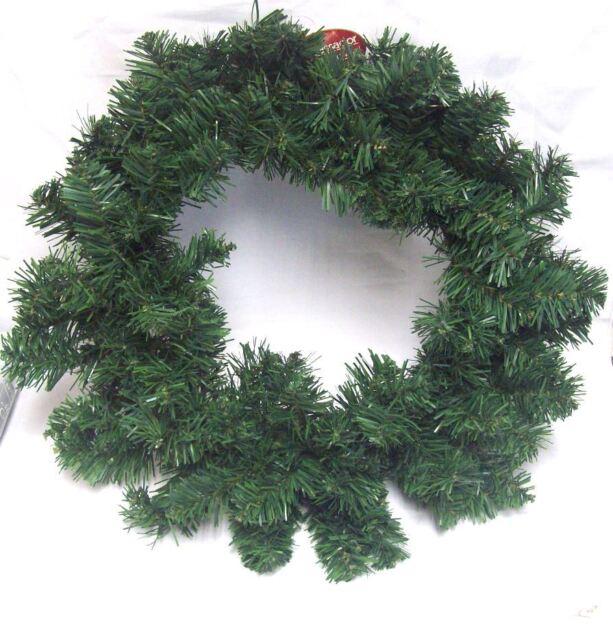 Ambassador 50cm Imperial Green Artificial Plain Christmas Door Wreath Decoration