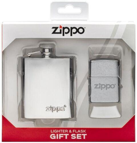 ZIPPO Flask & Lighter Gift Set 49098 **NEW RARE SLEEK L@@K**