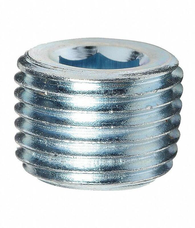 "Steel Male Hex Pipe Plug 1/2"" NPT MPT MIP Countersunk Allen Key Fitting"