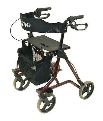 Faltbarer Rollator TORRO von Drive Leichtgewichtrollator inkl. Rückengurt