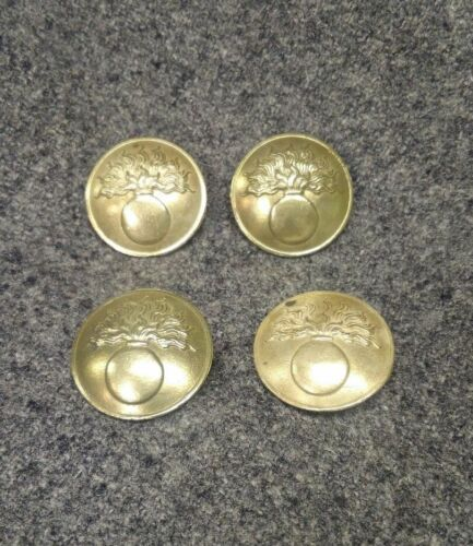 WWI French Button, unpainted Large Early War Brass Variation, by the each