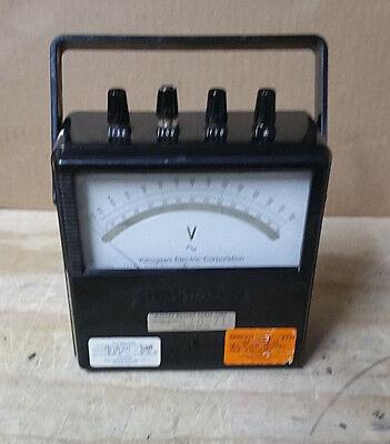 Vintage Yokogawa Portable Ac Voltmeter Type 2013