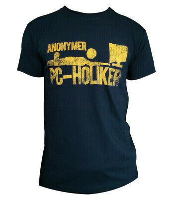 Cooles Nerd T-Shirt blau für PC Holiker Gamer Shirt Geschenk / Geschenkidee navy