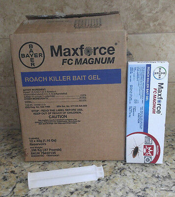 12 Maxforce FC Magnum Cockroach Roach Control Bait Gel Kill German American Etc
