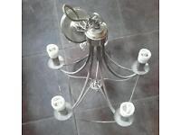 Simple chandelier light living room