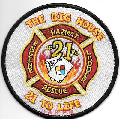 "*NEW* Jacksonville  Station - 21  ""Big House"", Florida  (4"" round) fire patch"