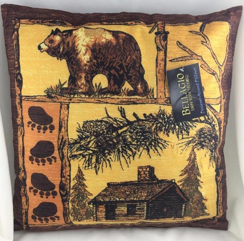 """~18 x 18 x 5"""" Running Horse Wilderness Lodge Cabin Western Throw Pillow Stuffed"""