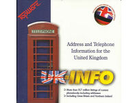 UK INFO 1996 FULLY SEARCHABLE NAME, ADDRESS AND PHONE INFORMATION
