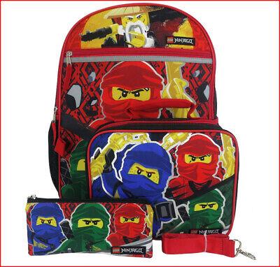 4 pcs ninjago warriors large 16 backpack