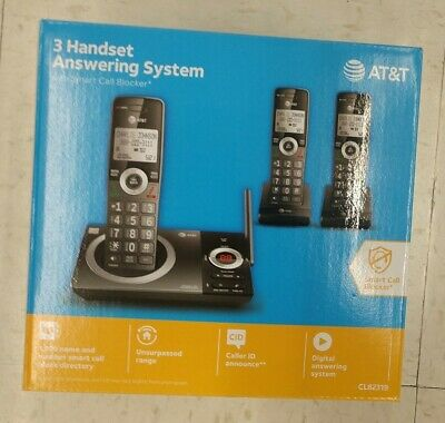 AT&T Model CL82319 (3) Handset Answering System with Smart Call Blocker NEW