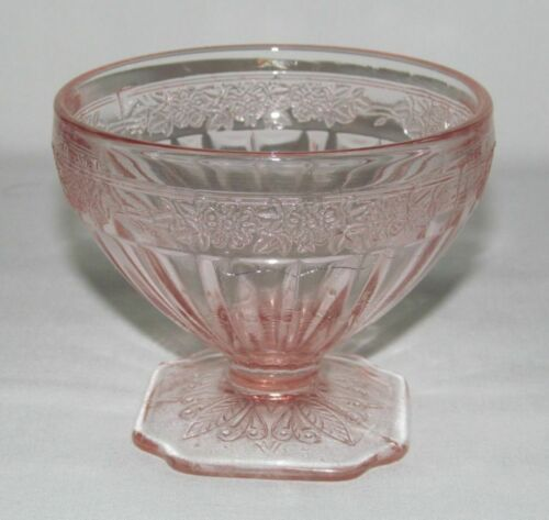 Jeannette Glass Co. ADAM PINK Low Footed Sherbet