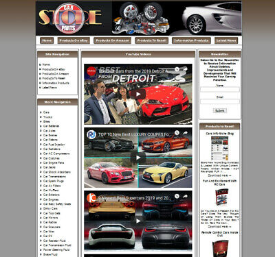 Money Making Online Business. Work At Home Car Parts Website For Sale.