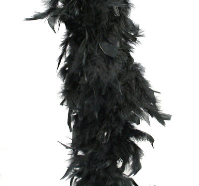 Black Feather Boa (6', 60 grams) - Feather Boa Black
