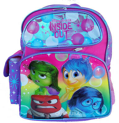 Disney Inside Out Joy Sadness Anger Disgust Girls 12  School Backpack Bag