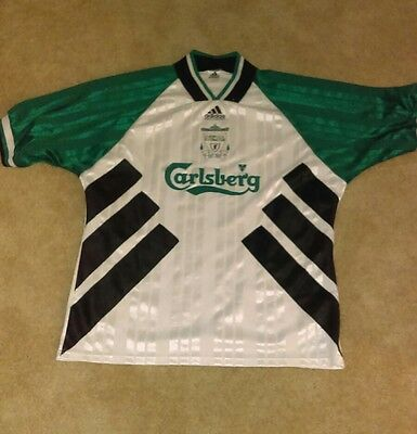 1994 adidas liverpool soccer jersey white mens 44-46 image