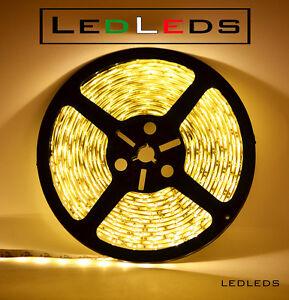 300-LED-3528-STRIP-STRISCIA-5-m-12V-BIANCO-impermeabile-luce-calda-neon-ip65
