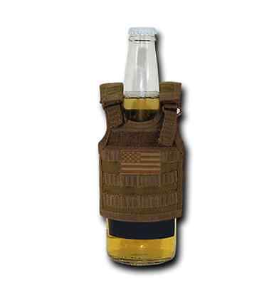 RAPDOM USA American Flag Can Bottle Cooler Insulator Mini Vest Beer Soda Coyote