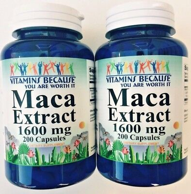 2 X Maca Root Extract 1600mg 400 Capsules Sexual Intimacy Enhancer Male Potency segunda mano  Embacar hacia Argentina
