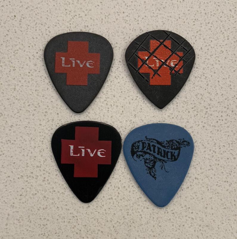 LIVE +LĪVE+ 2019 ALTimate Tour Issue Guitar Pick 4 Lot Chad Taylor Ed Kowalczyk