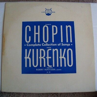 Chopin Complete Collection of Songs, sung in Polish by Maria Kurenko, Lyrichord