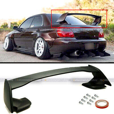 For 02-07 Subaru Impreza WRX STI 4DR Sedan Unpainted ABS Rear Trunk Wing -