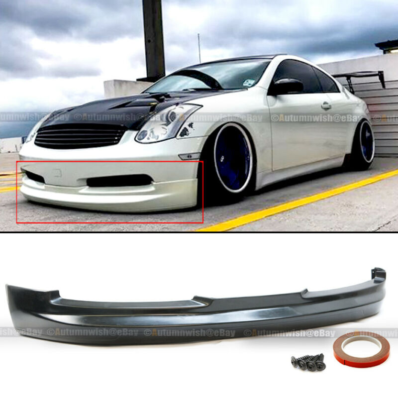 For 03-07 G35 2DR Coupe Gialla GL VIP Style PU Front Bumper Lip Body Kit Add On