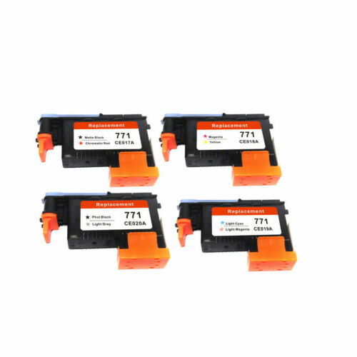 4 Pack 771 Printhead Replacement For HP 771 For Designjet Z6200 Printhead