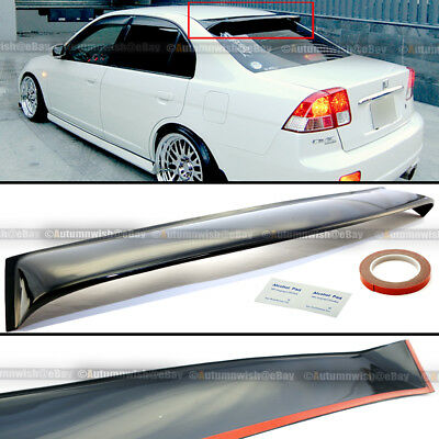 Honda Civic Roof (For 01-05 Honda Civic 4DR Sedan Acrylic Rear Roof Windshield Wing Visor)