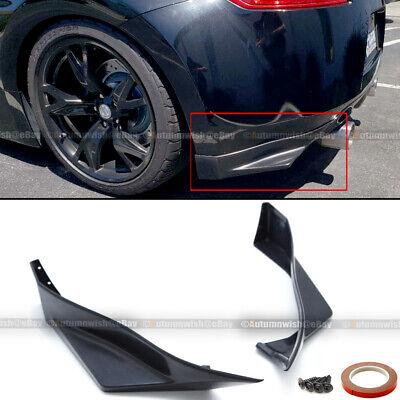 For 09-19 Nissan 370z Unpainted Polyurethane JDM Style Rear Bumper Aprons Lip