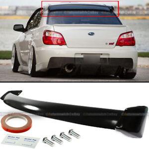 For 02-07 Subaru Impreza WRX STI OE Style Rear Window Roof Spoiler Glossy Black