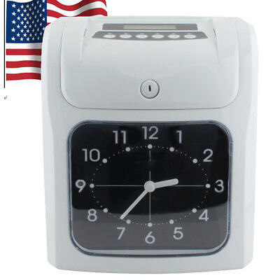 Electronic Employee Time Recorder Clock Monthly Weekly 10w Rn-16d100pcs Cards