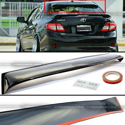 For 09-13 Toyota Corolla JDM Black Tinted Rear Window Roof Vent Visor Spoiler
