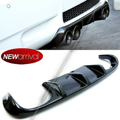 For 08-13 BMW M3 E92 E93 Coupe Carbon Fiber Rear Bumper Exhaust Diffuser