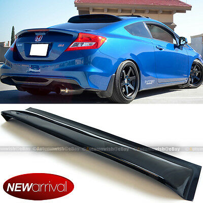 For 12-15 Civic 2dr Coupe Rear Window Roof Sun Rain Shade Vent Visor Spoiler