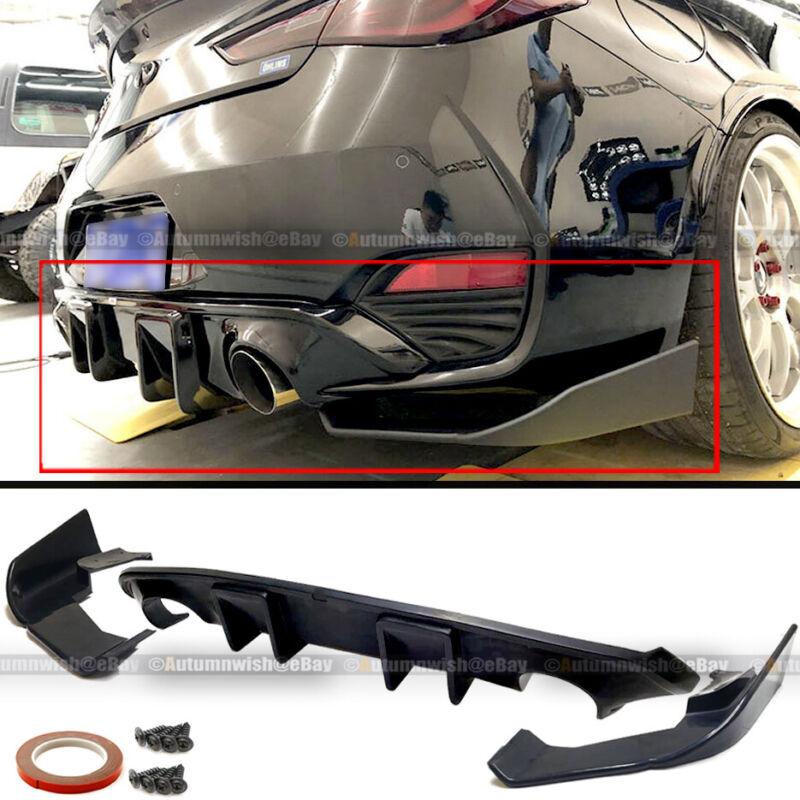 For 17-19 Infiniti Q60 2DR Coupe JDM Style Rear Bumper Lip Diffuser Splitter