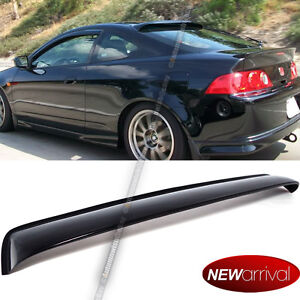 Fit 02-06 RSX Rear Window Roof Visor Vent Wing Spoiler