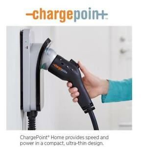NEW CHARGEPOINT VEHICLE CHARGER CPH25-P 195657012 Wi-Fi Connected Level 2, 240 Volt, 32 Amp, Plug-in Station 7.6 m cord