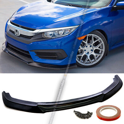For 16-18 Civic 10th 2/4DR Unpainted Front Bumper Lip Body Kit Lower Spoiler Civic Coupe Body Kit
