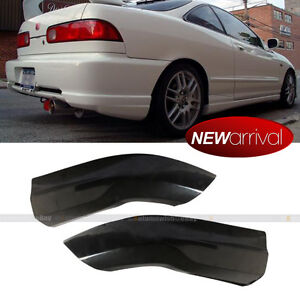 Fit 98-01 Integra Rear Bumper Lip Spoiler Cap Splitter Valance Spats Add On