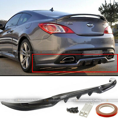 2012 Genesis Coupe - Fit 2DR Genesis Coupe Sport Style PU Rear Bumper Lip Diffuser Body Kit Add On