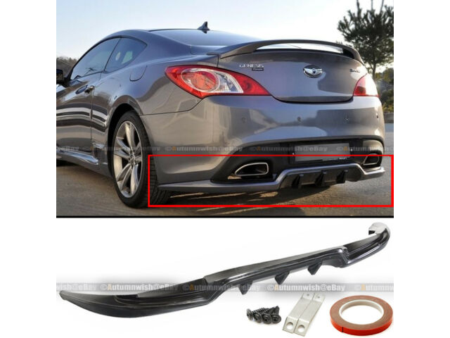 Fit 10-16 2DR Genesis Coupe Sport Style PU Rear Bumper Lip Diffuser Body Kit