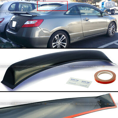 For 06-10 Civic 2dr Coupe Rear Window Roof Sun Rain Shade Vent Visor Spoiler