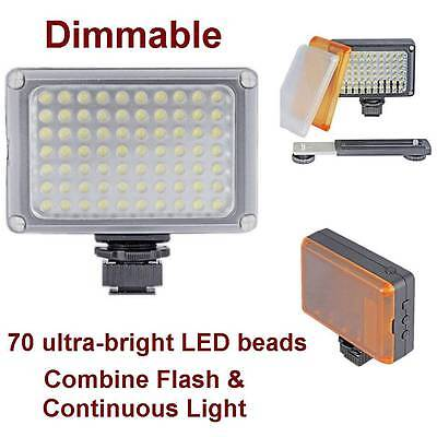 Dimmable LED Continuous Light Lamp for SLR/DSLR Camera Lighting Video Camcorder