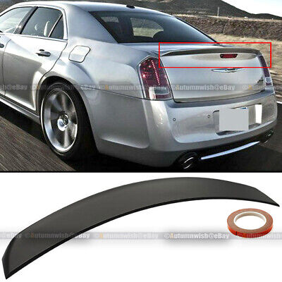 For 11-19 Chrysler 300 Factory OE Style Unpainted Trunk Lip Spoiler Rear Wing