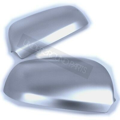 PAIR OF MATT SILVER ALUMINIUM S LINE STYLE AUDI A3 A4 A6 WING MIRROR COVERS CUPS