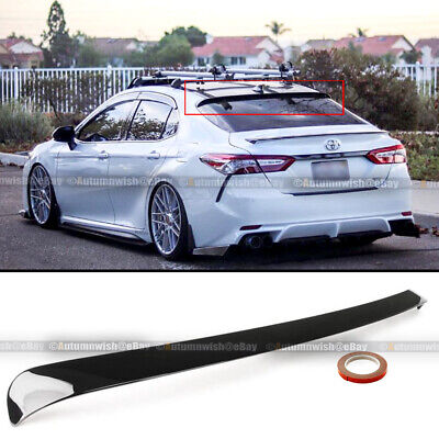 For 18-20 Camry LE SE XSE XLE Glossy Black JDM VIP Rear Window Roof Spoiler Wing