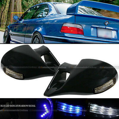 For 92-95 Civic 4Dr M-3 Style LED Manual Side Mirror W/ indicator arrow signal ()